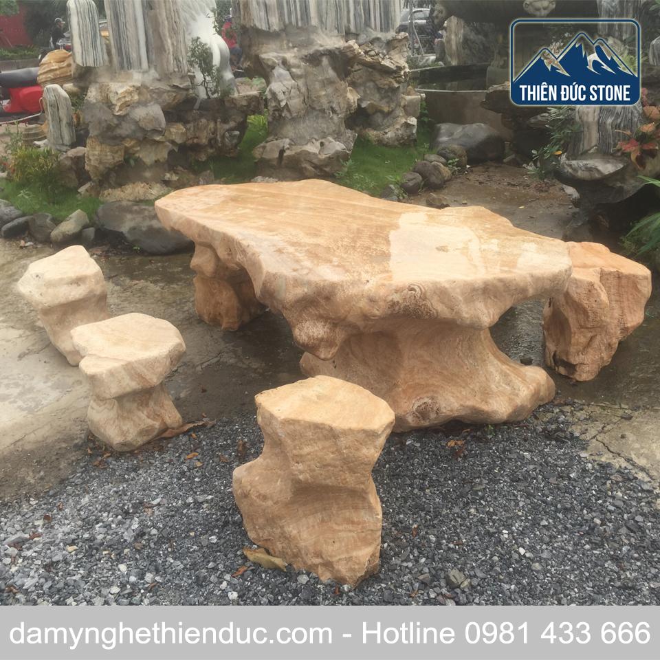 29 Bàn ghế đá tự nhiên - mẫu 29