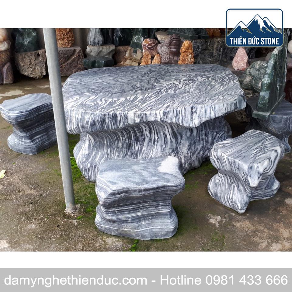 35 Bàn ghế đá tự nhiên - mẫu 35