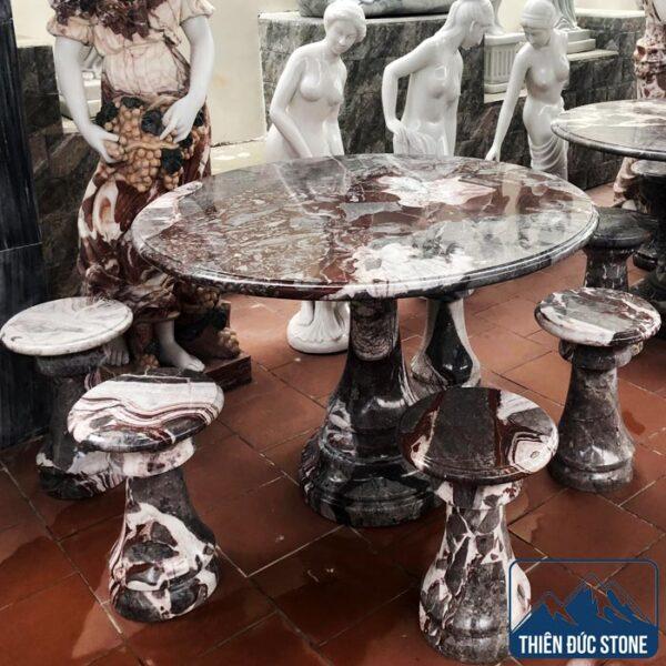 Bộ bàn ghế đá tròn | Bàn ghế đá transit