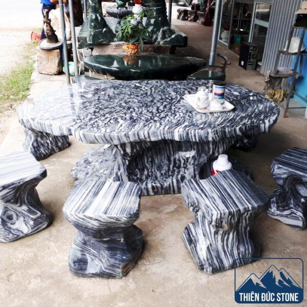 Bộ bàn ghế đá tuyết sơn | Thiên Đức Stone