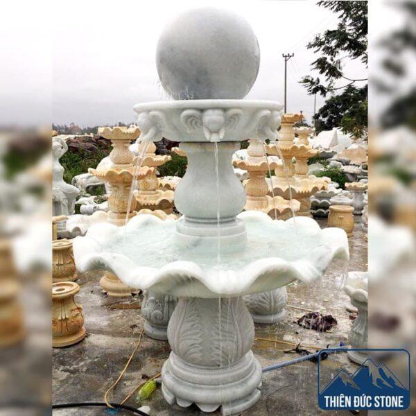 Đài phun nước bằng đá đẹp | Thiên Đức Stone