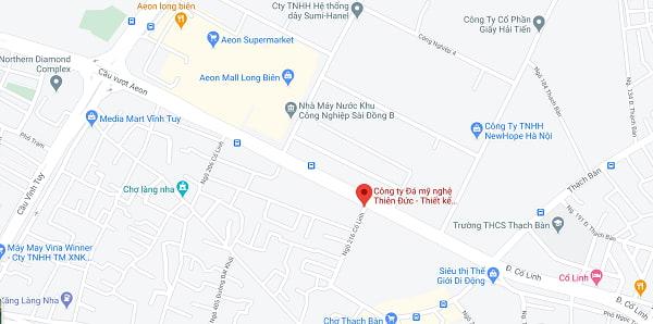 Bản đồ vị trí công ty đá mỹ nghệ Thiên Đức