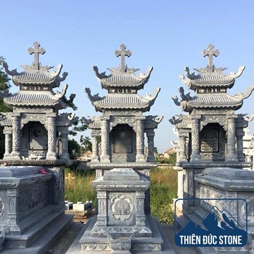 Mộ đá công giáo | Mộ đá đẹp Thiên Đức Stone