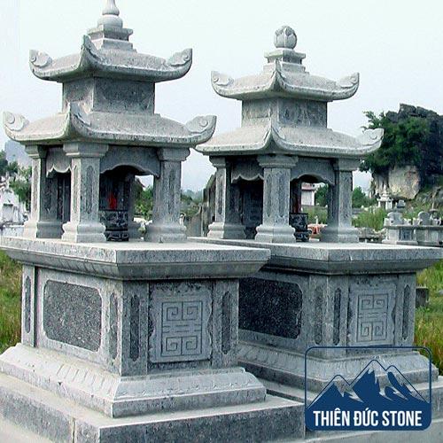 Mộ đá 2 mái | Mộ đá đẹp Thiên Đức Stone