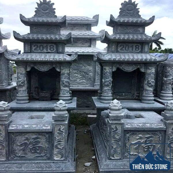 Mộ đá 3 mái | Mộ đá đẹp Thiên Đức Stone