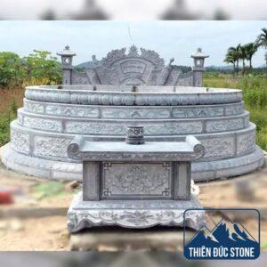 Mộ đá tròn | Mộ đá đẹp Thiên Đức Stone