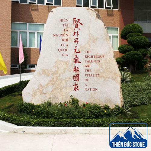 làm bảng tên công ty bằng đá | Thiên Đức Stone