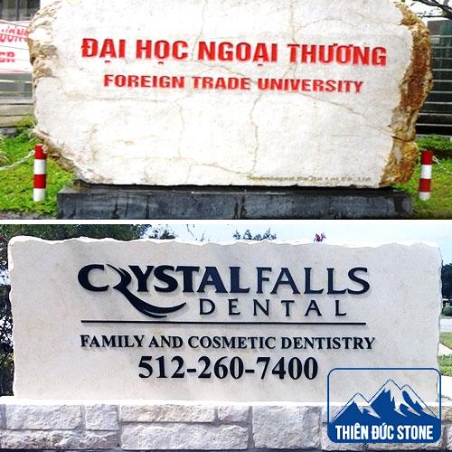 làm bảng hiệu công ty bằng đá | Thiên Đức Stone