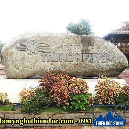 làm biển công ty bằng đá | Thiên Đức Stone