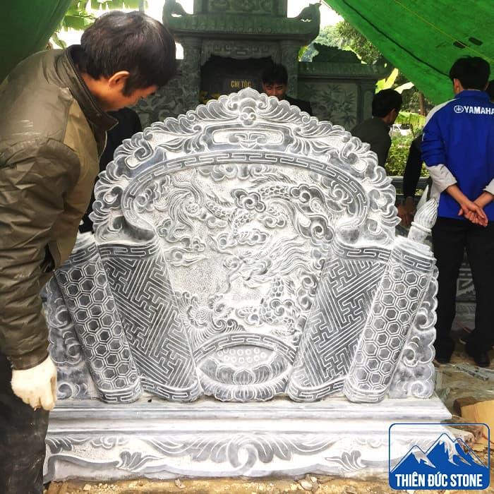 Cuốn thư đá - Bình phong đá | Thiên Đức Stone