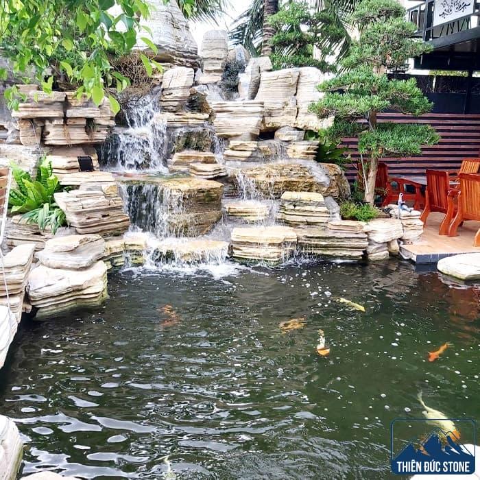 Thiết kế thi công hồ cá Koi đẹp   Thiên Đức Stone