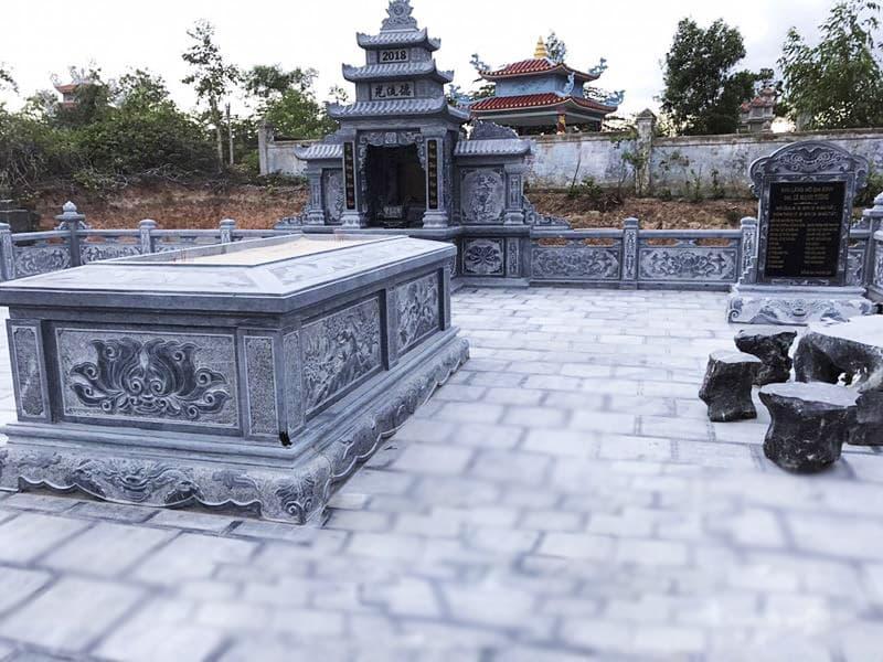 Hoa văn khắc trên mộ đá | Thiên Đức Stone