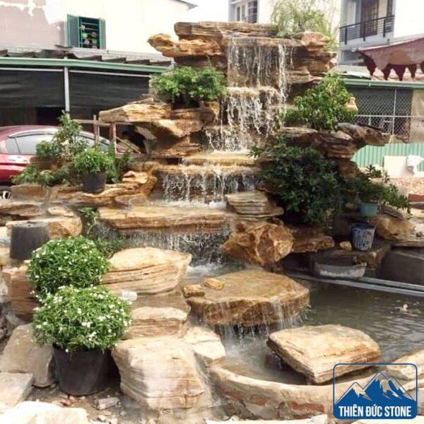 Hòn non bộ thác nước   Thiên Đức Stone