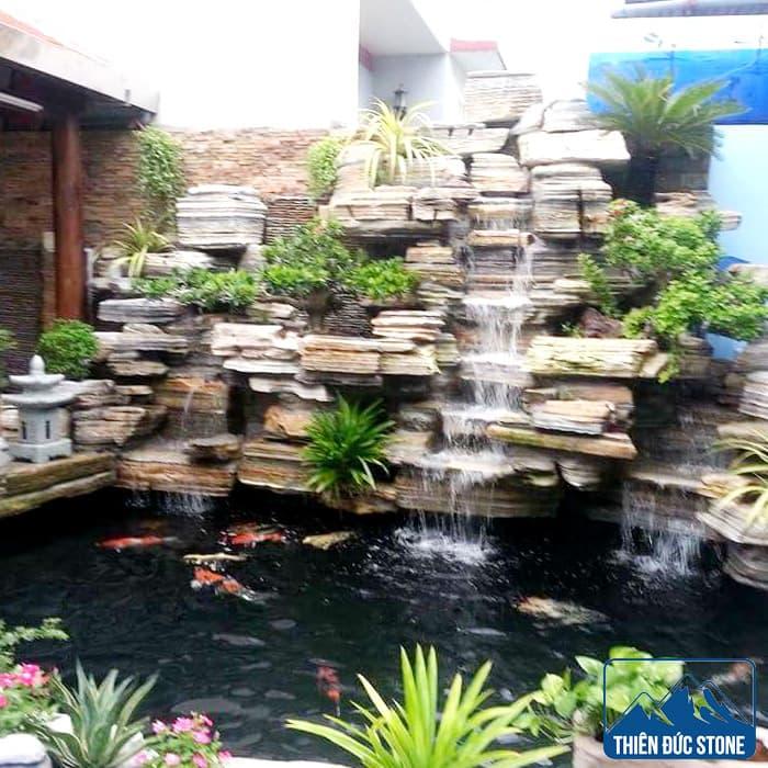 Hòn non bộ thác nước | Thiên Đức Stone