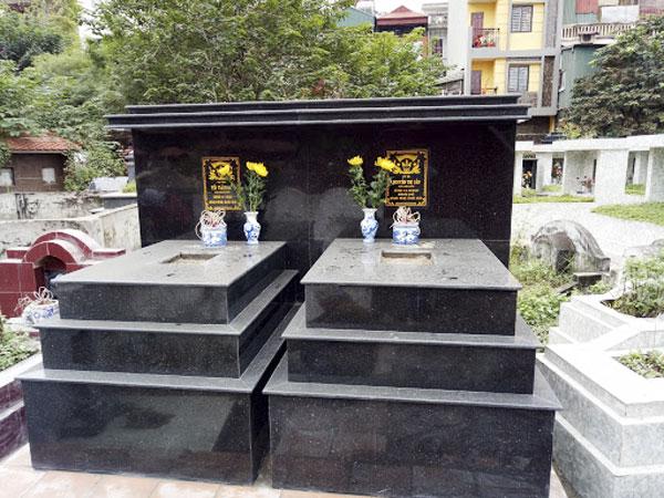 Mộ ốp đá kim sa   Thiên Đức Stone