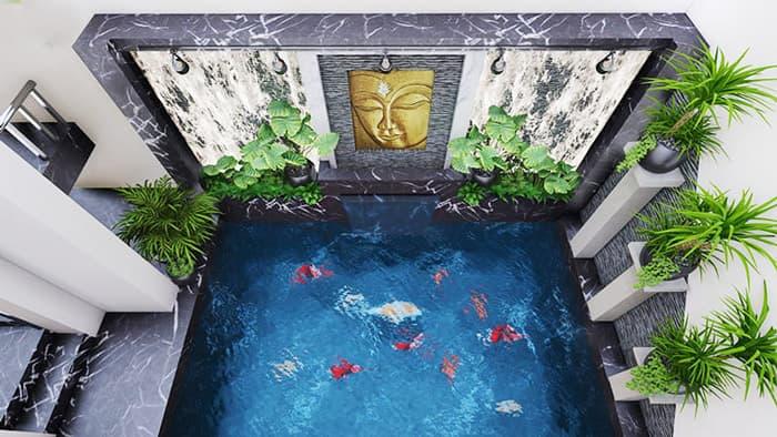 Thiết kế hồ cá trong nhà đẹp   Thiên Đức Stone