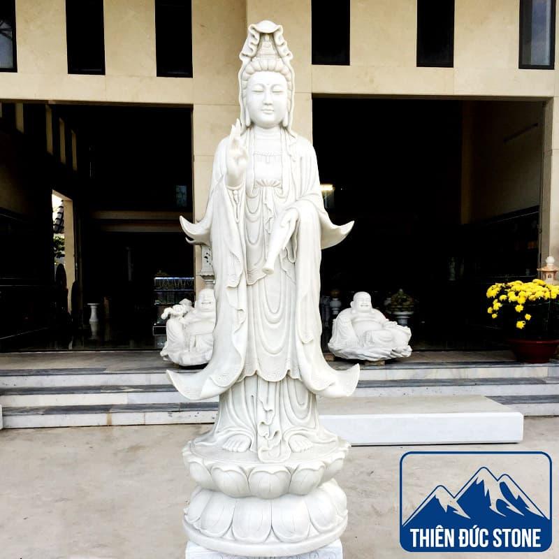 Tượng phật bà quan âm - Tượng Quan Âm bằng đá | Thiên Đức Stone