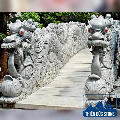 Tượng Rồng đá xanh | Thiên Đức Stone