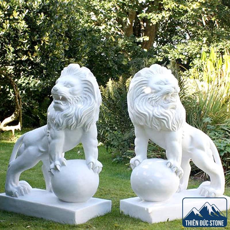 Tượng sư tử đá đẹp | Thiên Đức Stone