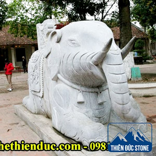 Tượng Voi Đá Xanh Đẹp | Thiên Đức Stone