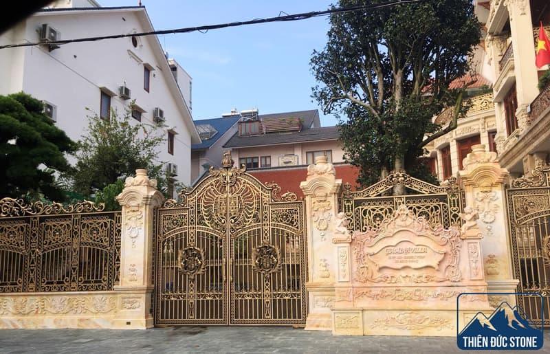 Cột trụ cổng đá biệt thự | Thiên Đức Stone