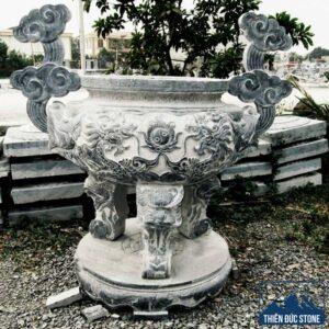 Lư hương đá cho lăng mộ | Thiên Đức Stone
