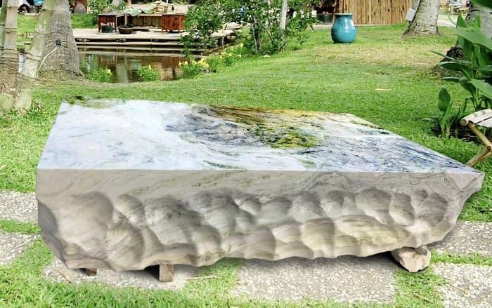 Sập đá tự nhiên nguyên khối   Thiên Đức Stone