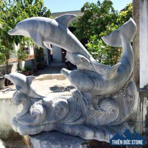 Tượng cá heo đá nghệ thuật | Thiên Đức Stone